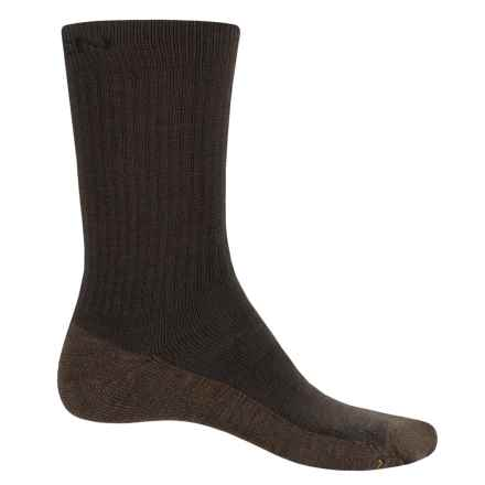 Keen North Country Medium Cushion Socks - Merino Wool Blend, Crew (For Men) in Black Olive/Lode - Closeouts