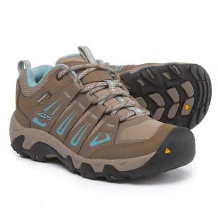 Keen Oakridge Hiking Shoes - Waterproof (For Women) in Shitake/Stone Blue - Closeouts