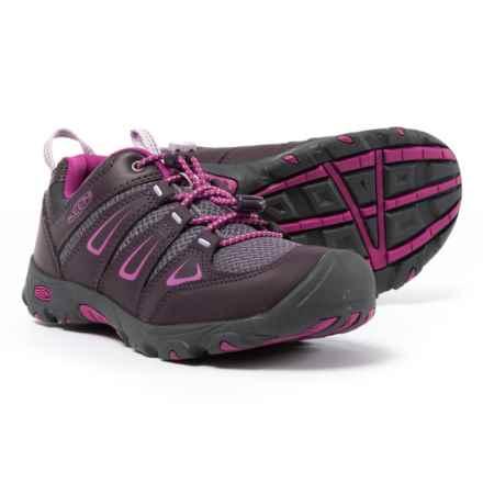 Keen Oakridge Low Hiking Shoes - Waterproof (For Little and Big Girls) in Plum/Purple Wine - Closeouts