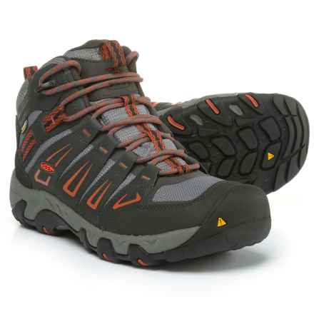 Keen Oakridge Mid Hiking Boots - Waterproof (For Men) in Raven/Burnt Ochre - Closeouts