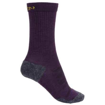Keen Olympus Lite Crew Socks - Merino Wool (For Women) in Dark Purple - 2nds