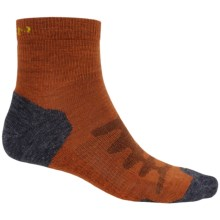 Keen Olympus Lite Socks - Merino Wool, Quarter Crew (For Men) in Burnt Henna - 2nds