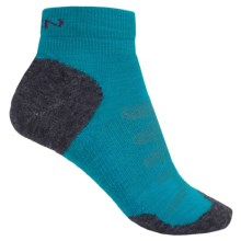 Keen Olympus Lite Socks - Merino Wool, Quarter Crew (For Women) in Carribean Sea - 2nds