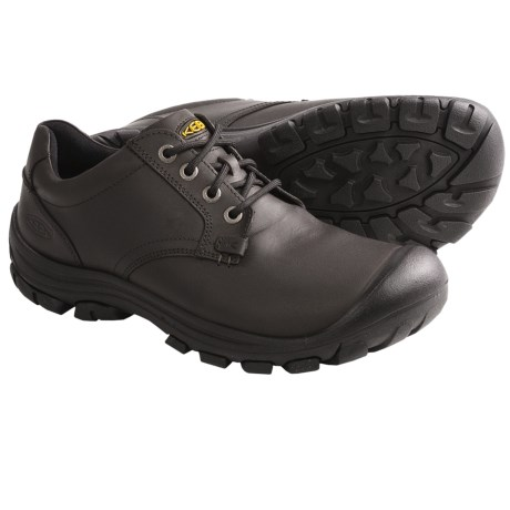 Keen Ontario Shoes - Leather, Lace-Ups (For Men) in Slate Black