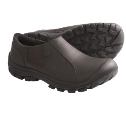 Keen Ontario Shoes - Leather, Slip-Ons (For Men) in Slate Black