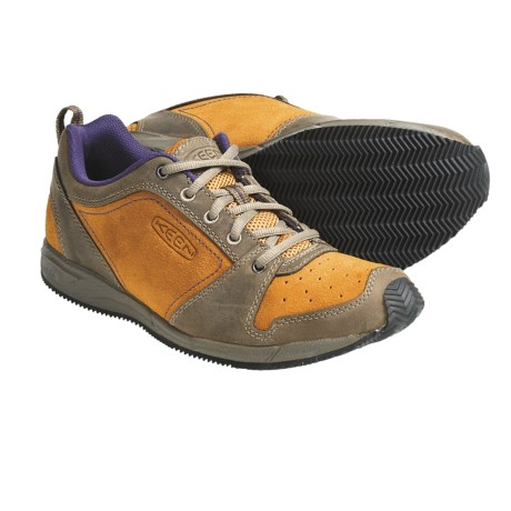 Keen P-Town Shoes - Leather-Suede (For Women) in Brindle/Apricot