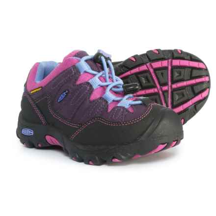 Keen Pagosa Low Hiking Shoes - Waterproof (For Little and Big Girls) in Blackberry/Dahlia Mauve - Closeouts