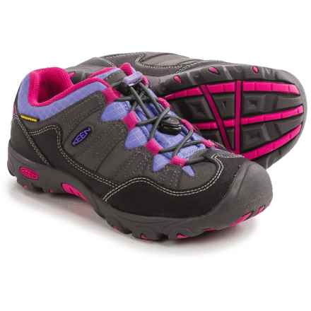 Keen Pagosa Low WP Hiking Shoes - Waterproof (For Little and Big Kids) in Magnet/Periwinkle - Closeouts