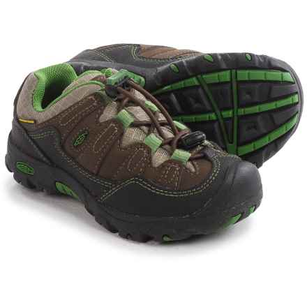 Keen Pagosa Low WP Trail Shoes - Waterproof (For Toddlers) in Cascade Brown/Treetop - Closeouts