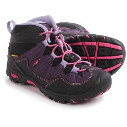 Keen Pagosa Mid WP Hiking Boots - Waterproof (For Little and Big Kids) in Blackberry/Bougainvillea - Closeouts