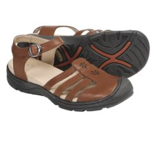 Keen Paradise Sandals - Leather (For Women) in Bombay Brown - Closeouts