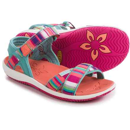 Keen Phoebe Sandals (For Little and Big Girls) in Lagoon/Fusion Coral Raya - Closeouts