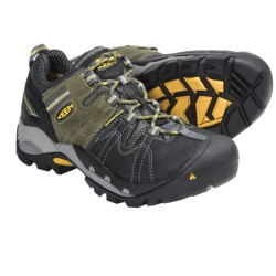 Keen Pittsburgh Low Work Shoes - Waterproof (For Men) in Black/Green
