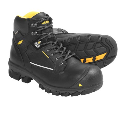 Keen Portland Work Boots - Waterproof, Composite Toe (For Men) in Black