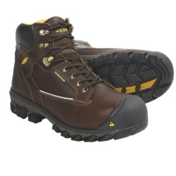 Keen Portland Work Boots - Waterproof, Composite Toe (For Men) in Brown