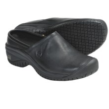 Keen PTC Clogs - Leather (For Women) in Black - Closeouts