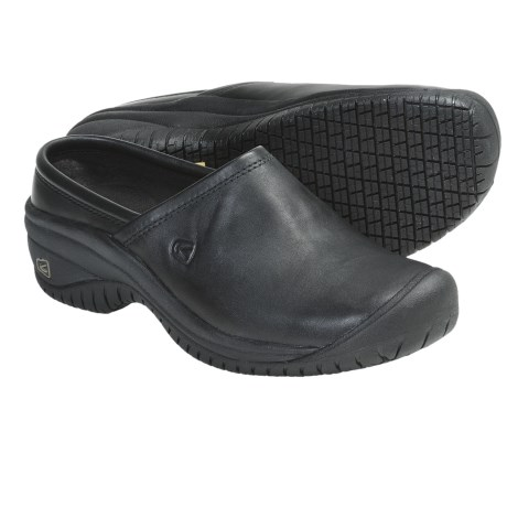 Keen PTC Clogs - Leather (For Women) in Black