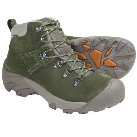 Keen Pyrenees Hiking Boots - Waterproof, Leather (For Men) in Black/Forest