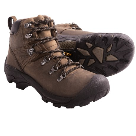 Keen Pyrenees Hiking Boots - Waterproof, Leather (For Women) in Black/Forest