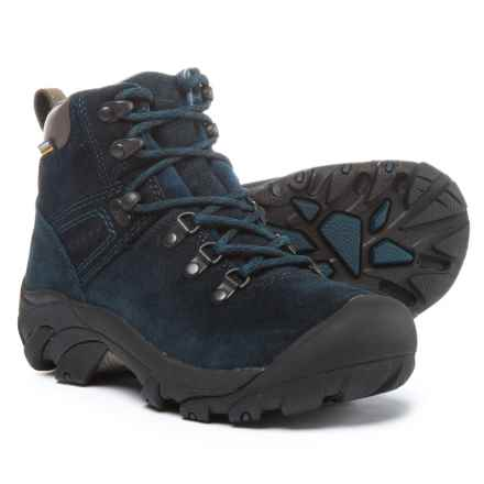 Keen Pyrenees Hiking Boots - Waterproof, Suede (For Women) in Blue Nights - Closeouts