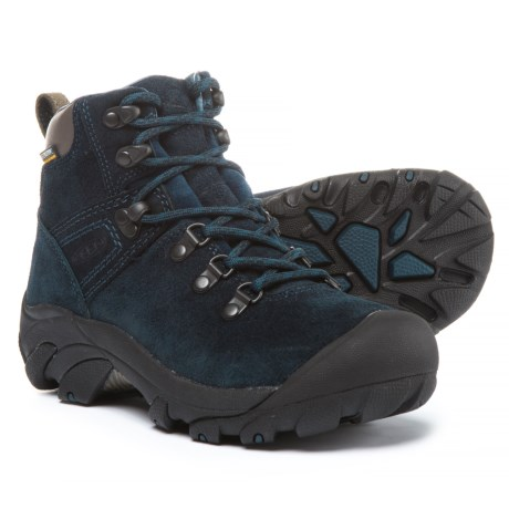 Keen Pyrenees Hiking Boots - Waterproof, Suede (For Women) in Blue Nights