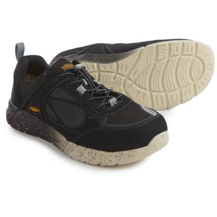 Keen Raleigh Work Shoes - Aluminum Safety Toe (For Men) in Black/Raven - Closeouts