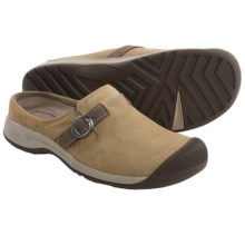 Keen Reisen Leather Clogs - Slip-Ons (For Women) in Kelp - Closeouts