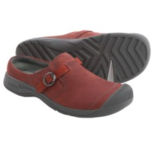 Keen Reisen Leather Clogs - Slip-Ons (For Women) in Red Dahlia - Closeouts