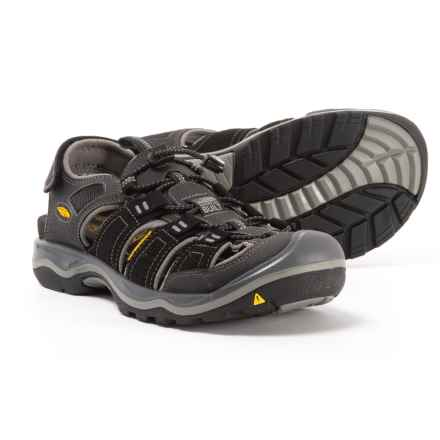 Keen Rialto H2 Sandals (For Men) in Black/Gargoyle - Closeouts