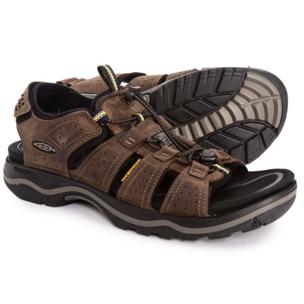 441569b1802e2f Keen Rialto Sandals (For Men) in Dark Earth Black - Closeouts