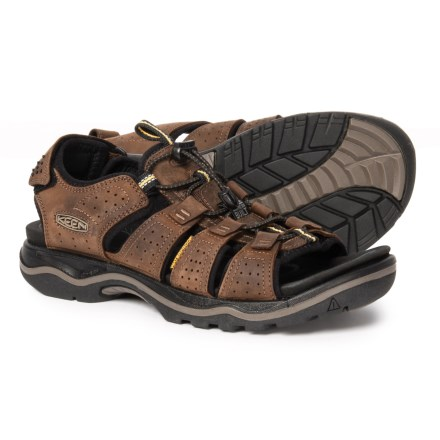 f0d81dca551b Keen Rialto Sandals - Leather (For Men) in Dark Earth Black - Closeouts