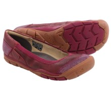 Keen Rivington Ballerina CNX Shoes - Leather, Slip-Ons (For Women) in Beet Red - Closeouts