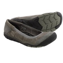 Keen Rivington Ballerina CNX Shoes - Leather, Slip-Ons (For Women) in Neutral Grey - Closeouts