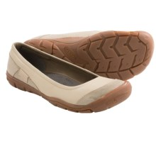 Keen Rivington Ballerina CNX Shoes - Leather, Slip-Ons (For Women) in Pumice Stone - Closeouts