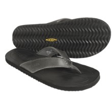Keen Rockaway Thong Sandals - Leather (For Men) in Gargoyle - Closeouts