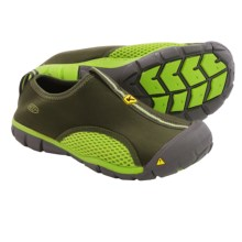 Keen Rockbrook CNX Water Shoes - Slip-Ons (For Big Kids) in Forest Night/Lime Green - Closeouts
