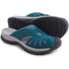 Keen Rose Slide Sandals (For Women) in Indian Teal/Neutral Grey - Closeouts