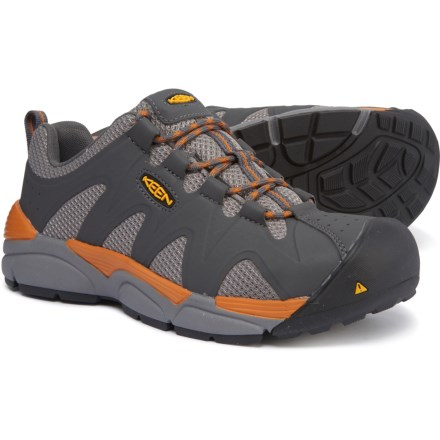 5b12244ddeee1 Keen San Antonio Shoes - Safety Toe (For Men) in Magnet/Desert Sun