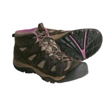 Keen Shasta Mid Hiking Boots - Leather (For Women) in Black Olive/Grape Nectar - Closeouts