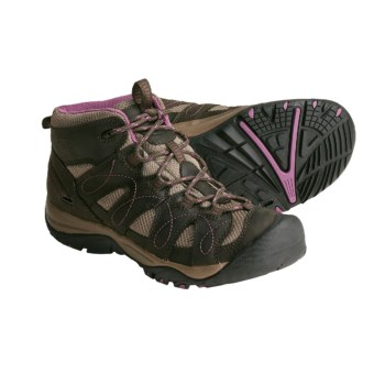 Keen Shasta Mid Hiking Boots - Leather (For Women) in Black Olive/Grape Nectar