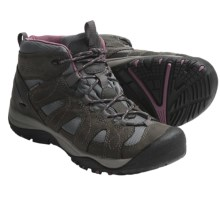 Keen Shasta Mid Trail Shoes - Waterproof (For Women) in Dark Shadow/Grape Nectar - Closeouts