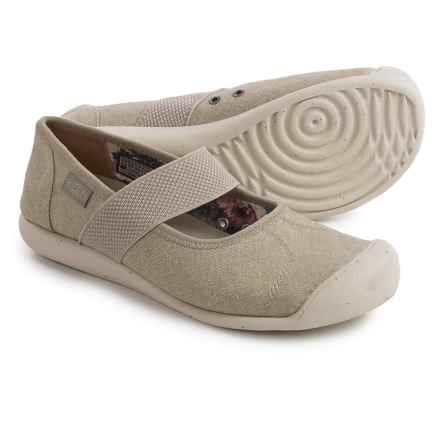 Keen Sienna Mary Jane Shoes - Canvas (For Women) in Feather Grey - Closeouts