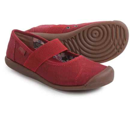 Keen Sienna Mary Jane Shoes - Canvas (For Women) in Red Dahlia - Closeouts
