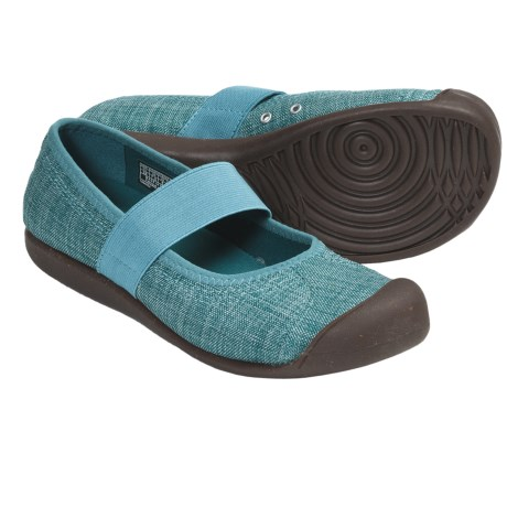 Keen Sienna Mary Jane Shoes - Canvas (For Women) in Dark Earth