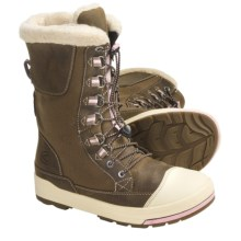Keen Snow Rover Winter Boots - Waterproof, Insulated (For Women) in Shitake/Almond Blossom - Closeouts