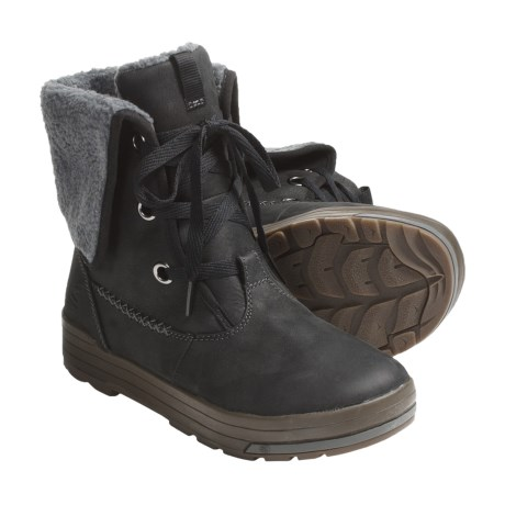 Keen Snowmass Low Boots - Waterproof, Leather (For Women) in Black/Dark Shadow