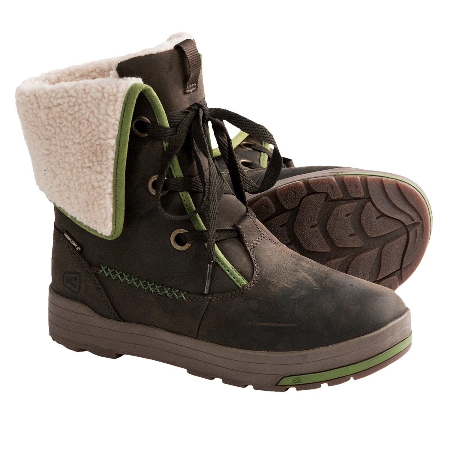 New  Plus Waterproof Boots  Removable Fleece Liner For Women In Black