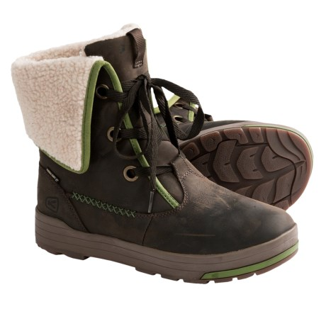Keen Snowmass Low Boots - Waterproof, Leather (For Women) in Slate Black/English Ivy