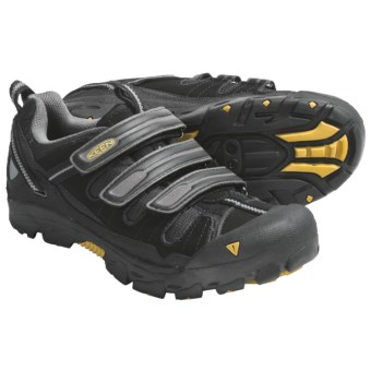 Keen Springwater Cycling Shoes (For Men) in Black/Keen Yellow
