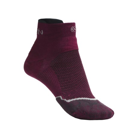 Keen Springwater Ultralite Socks - Merino Wool, Low Cut (For Women) in Beet Red/Green